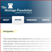 The Heritage Foundation on Immigration